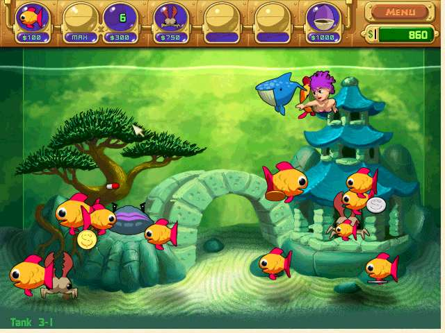 Insaniquarium deluxe game download insaniquarium cd for Feed and grow fish free download full game