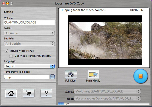 Mac DVD Copy software for OS X, copy DVD-9 and DVD-5 on Mac