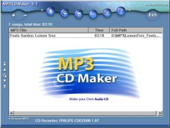MCN MP3 CD Maker ScreenShot - click to enlarge